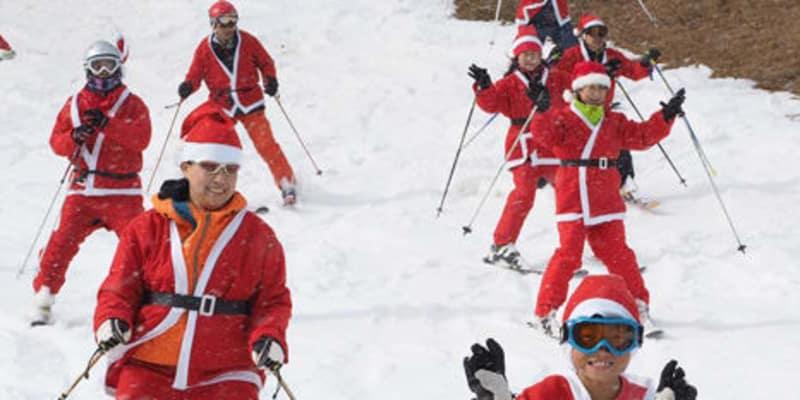 ゲレンデ華やか真っ赤なサンタ 箱館山スキー場でパレード – 京都新聞 | This Kiji