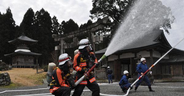 邇々杵神社で50人が消防訓練 高島 /滋賀 – 毎日新聞