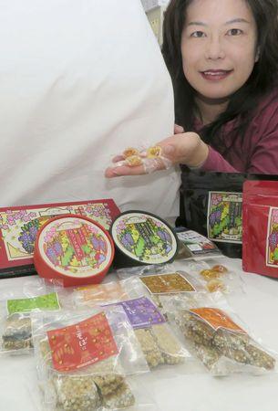 新食感ソバのチョコや柿のべっこうあめ レシピ無料提供で新たな特産品へ